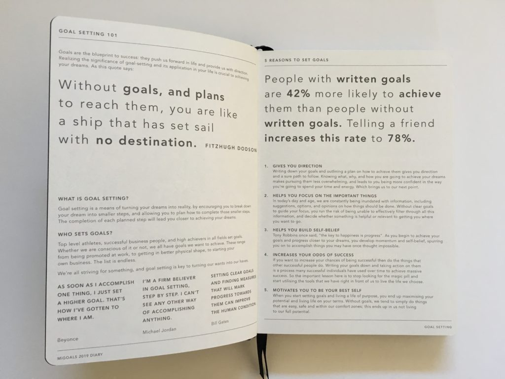 mi goals planner review how to use the planner