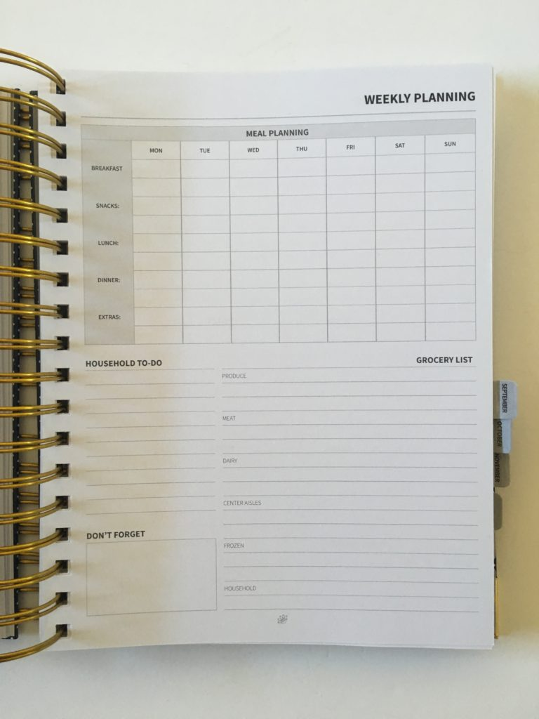 peacock paper weekly planner review pros and cons minimalist grocery list