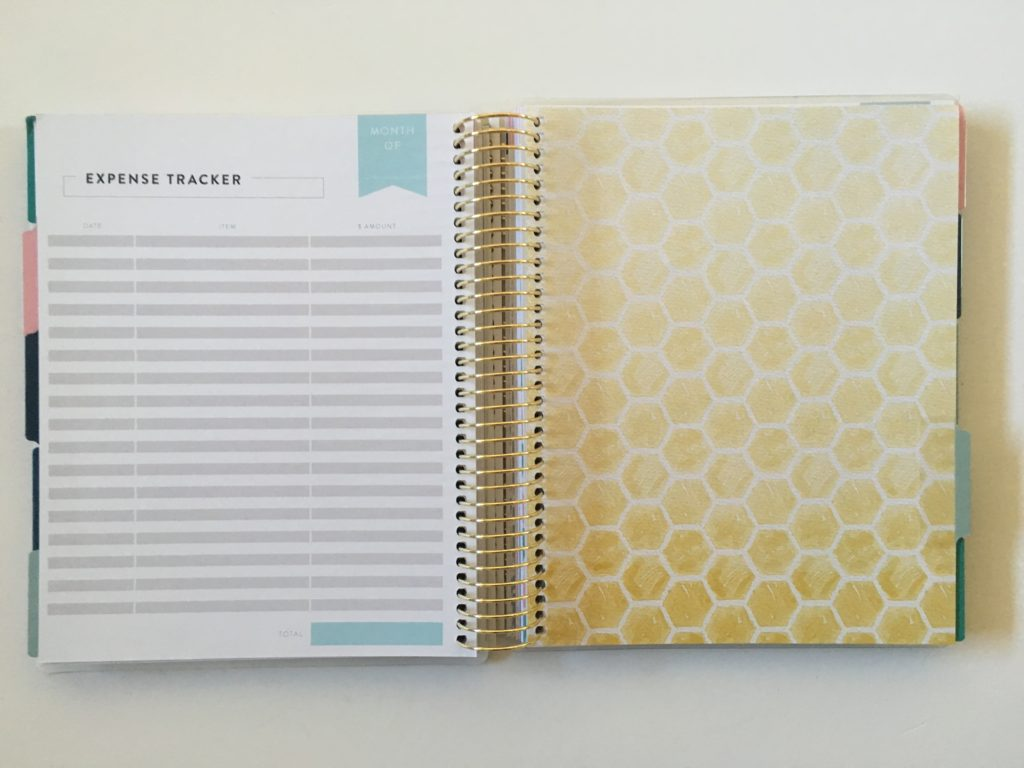 recollections budget planner expenses tracker log colorful divider