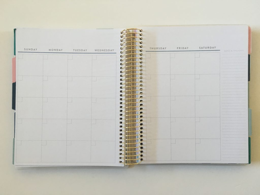 recollections budget planner monthly calendar monday start minimalist bright white paper