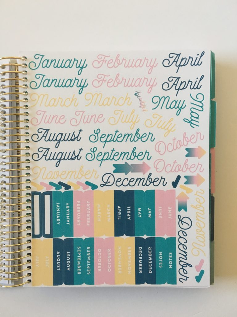 recollections budget planner monthly calendar stickers