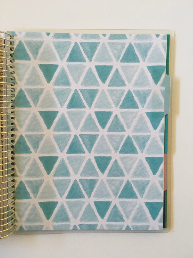 recollections budget planner page divider tabs undated