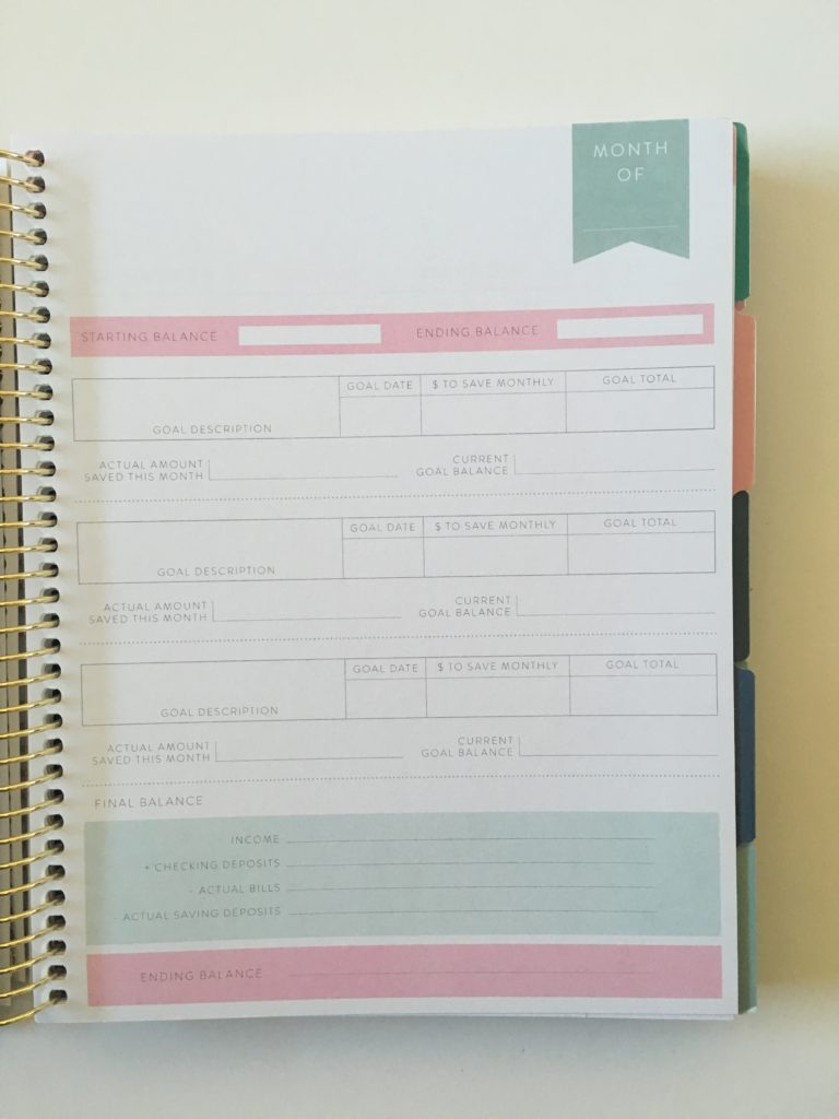 recollections budget planner savings goals affordable alternative to happy planner from mambi