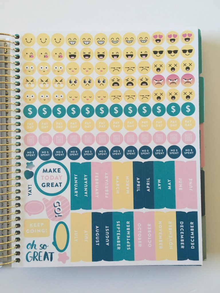 recollections planner stickers icon emoji tabs