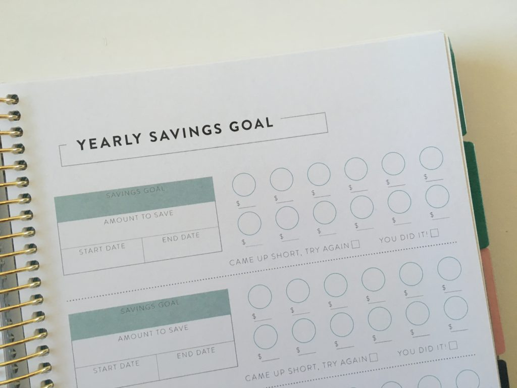 recollections yearly savings goal planner review