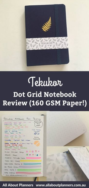 tekukor dot grid notebook review pros and cons paper quality pen testing no ghostng bleed through 160 gsm thick bright white paper