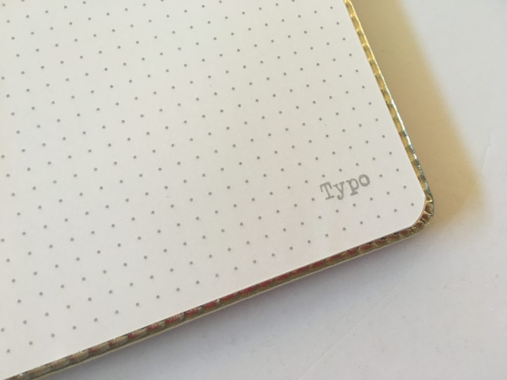 typo dot grid notebook review australian bullet journal