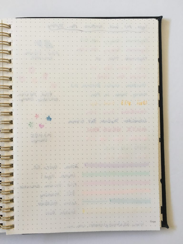 typo dot grid notebook review bullet journal pen testing ghosting bleed through pen highlighter paper quality