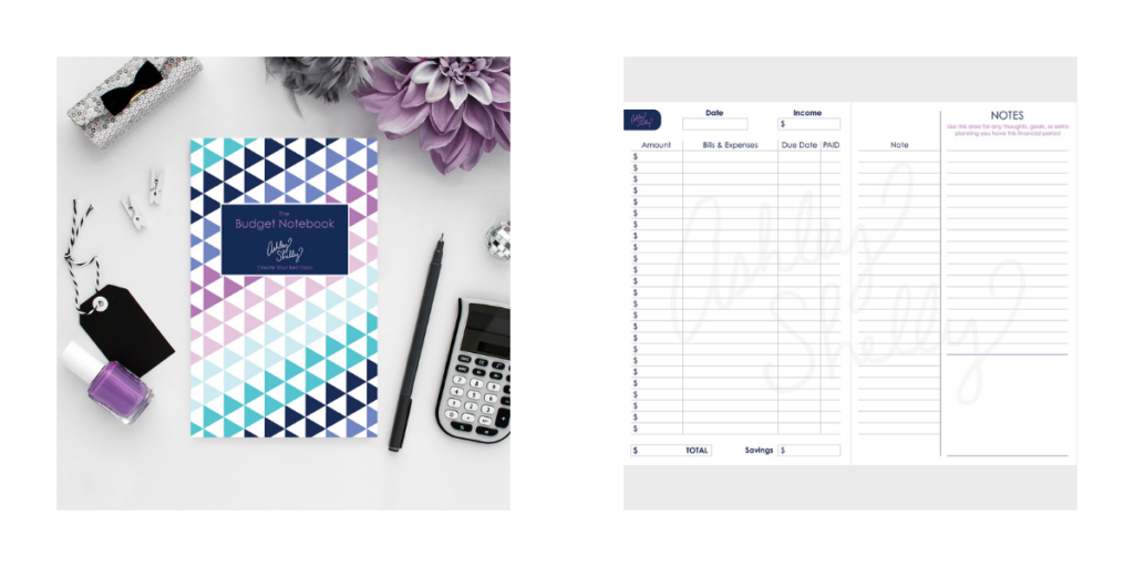 Ashley Shelly Budget Notebook, budget planner, savings tracker, monthly expenses