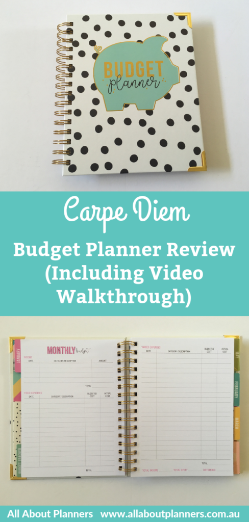 Carpe diem budget planner review pros cons monthly budget spending expenses savings tracker debt payoff