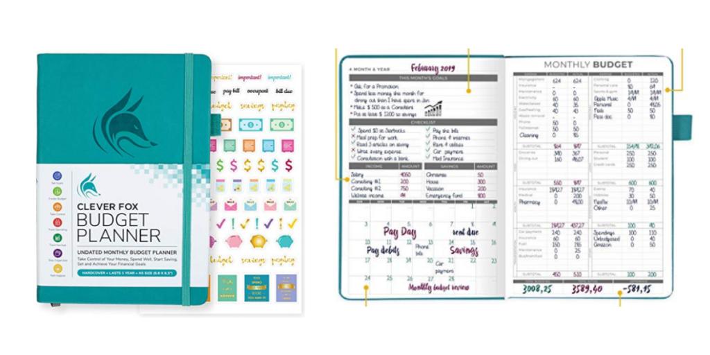 Clever Fox Budget Planner, weekly budget planner, savings tracker, debt tracker (2)