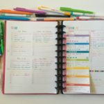 Categorised weekly planning using printables in the ARC discbound notebook