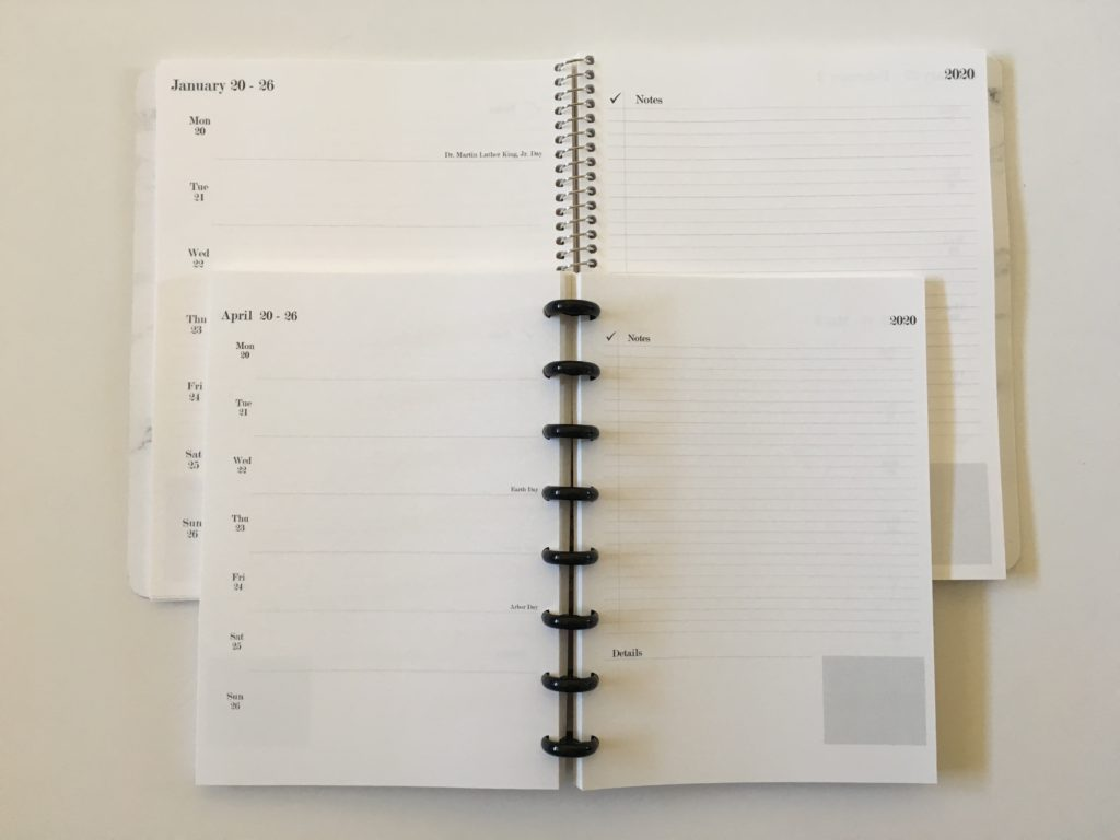 Practical paper co planner haul arcing my notebook weekly planner a5 versus medium page size