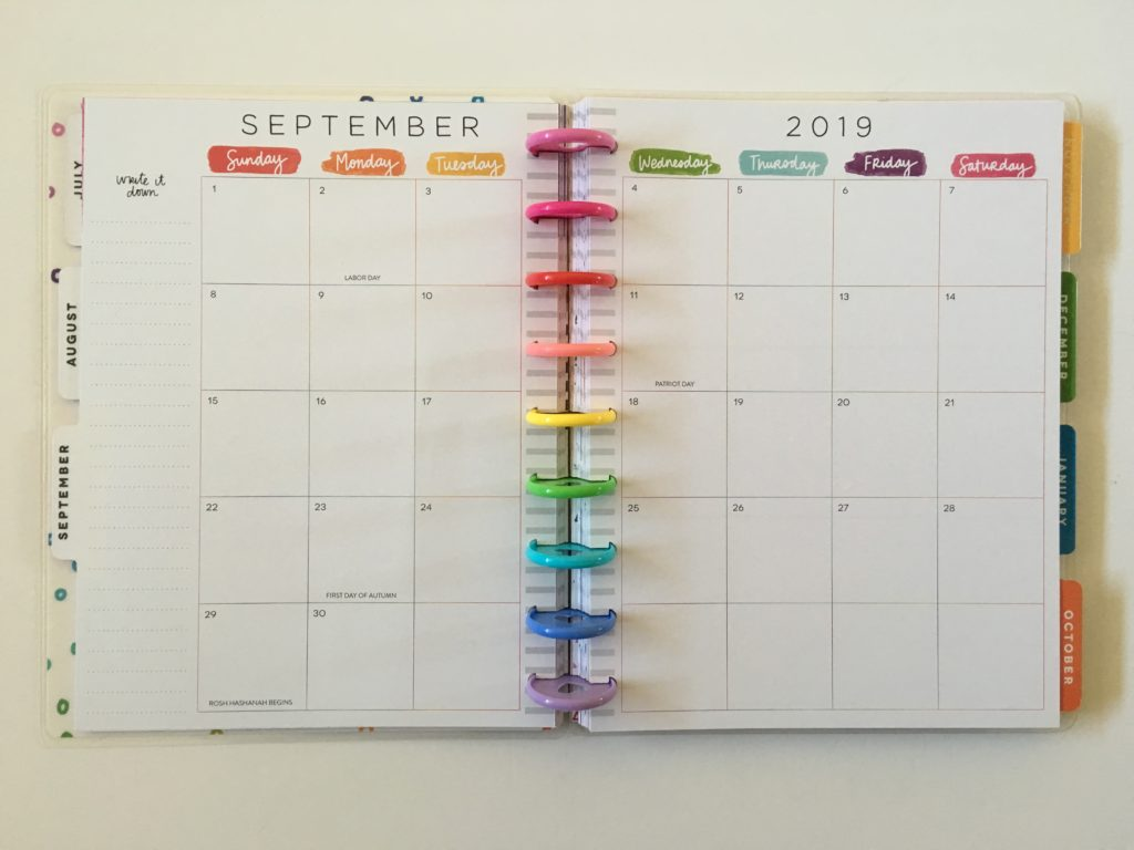 amy tangerine happy planner collaboration be happy box planner vertical sunday week start rainbow colorful