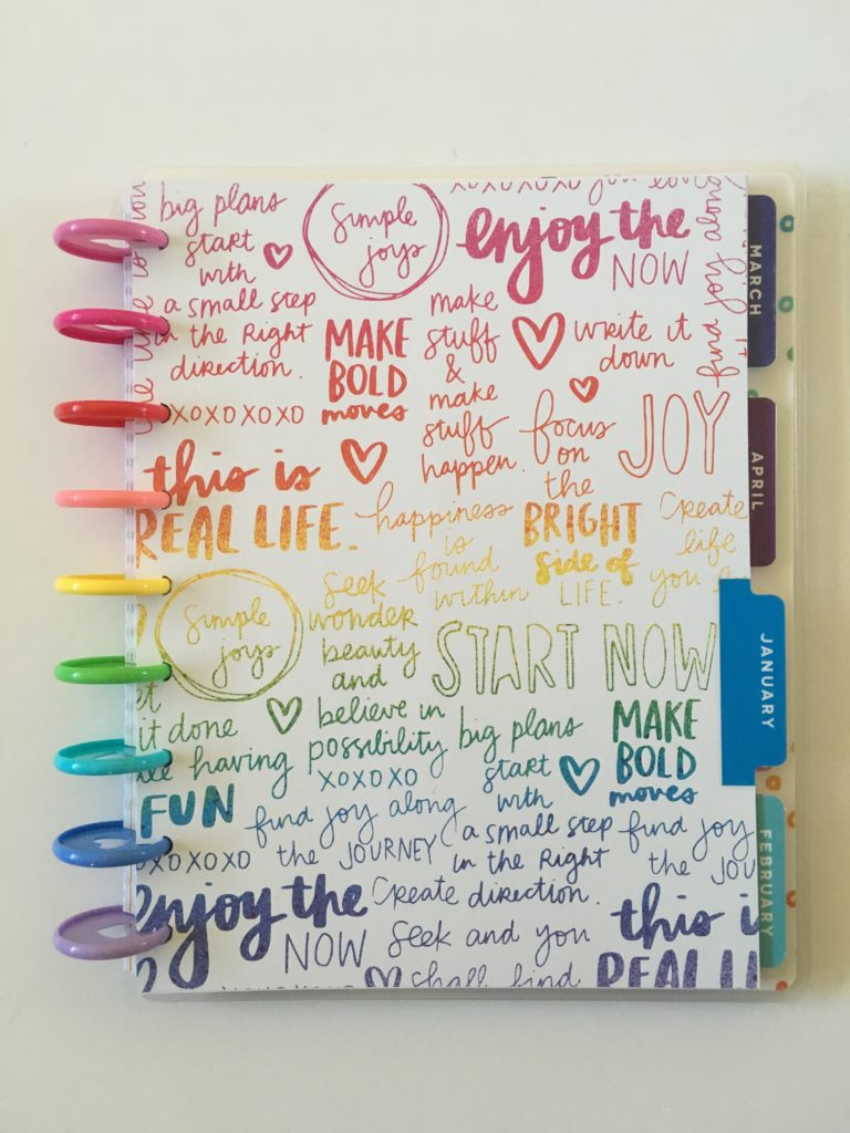 amy tangerine me and my big ideas weekly planner review colorful dividers rainbow