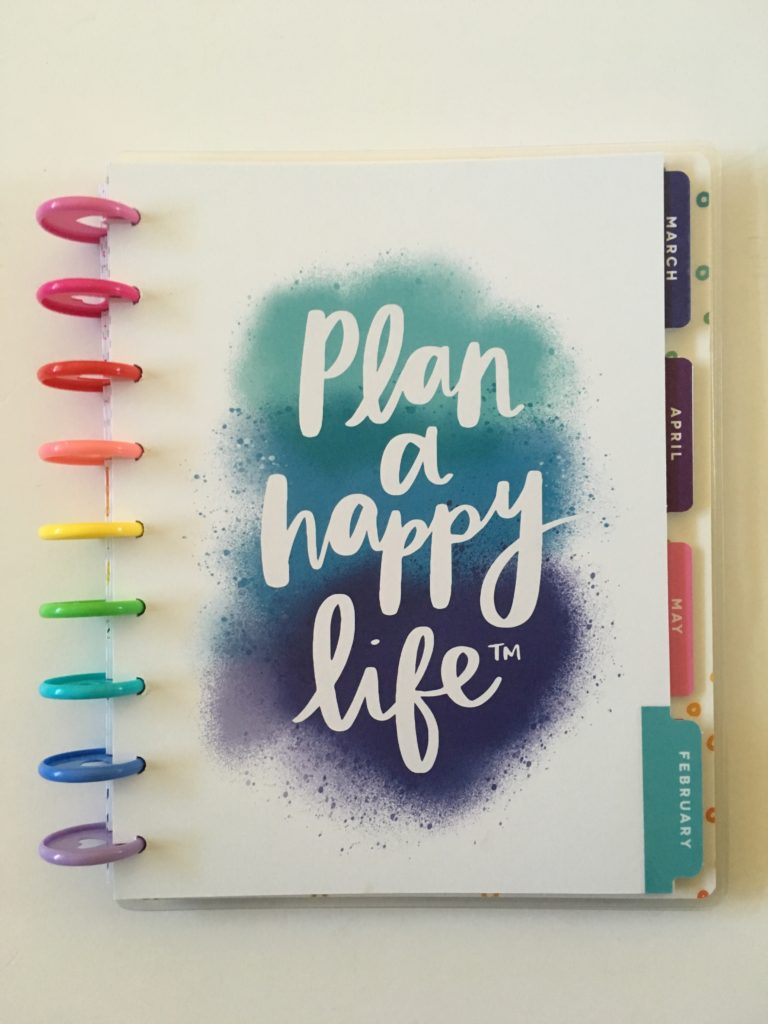amy tangerine me and my big ideas weekly planner review rainbow discbound