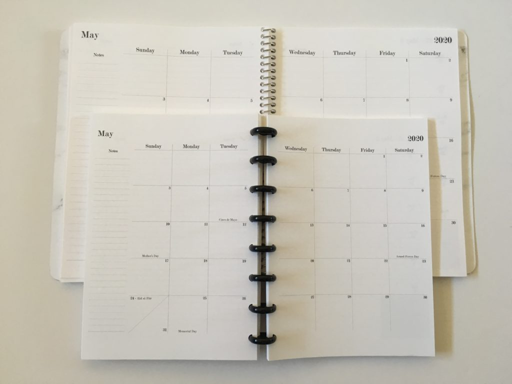 arcing my practical paper notebook into a discbound planner minimalist monthly and weekly spread
