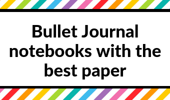 bullet journal notebooks with the best paper dot grid minimalist ghosting bleed through high gsm review video pen testing swatch