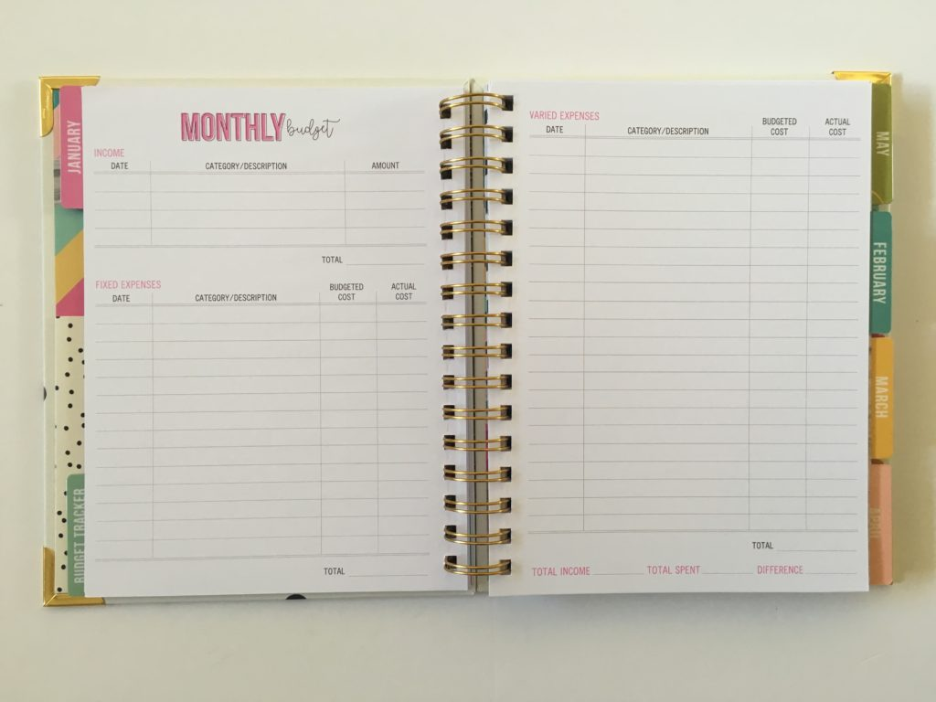 carpe diem budget planner monthly income expenses tracker debt payoff savings undated spending