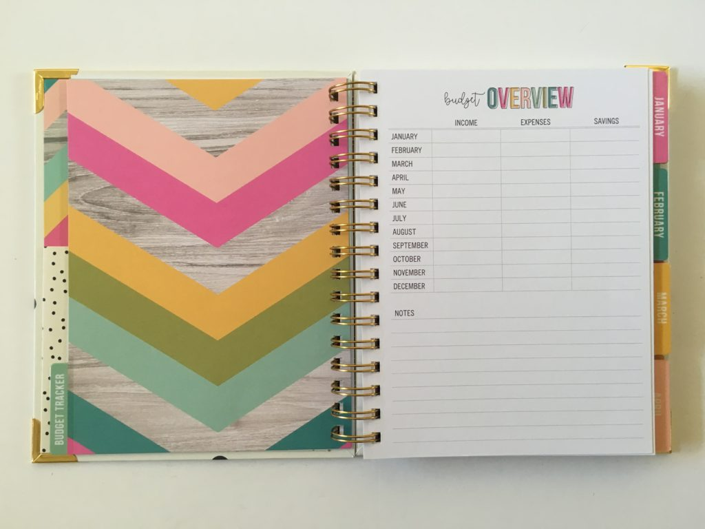 carpe diem budget planner monthly overview