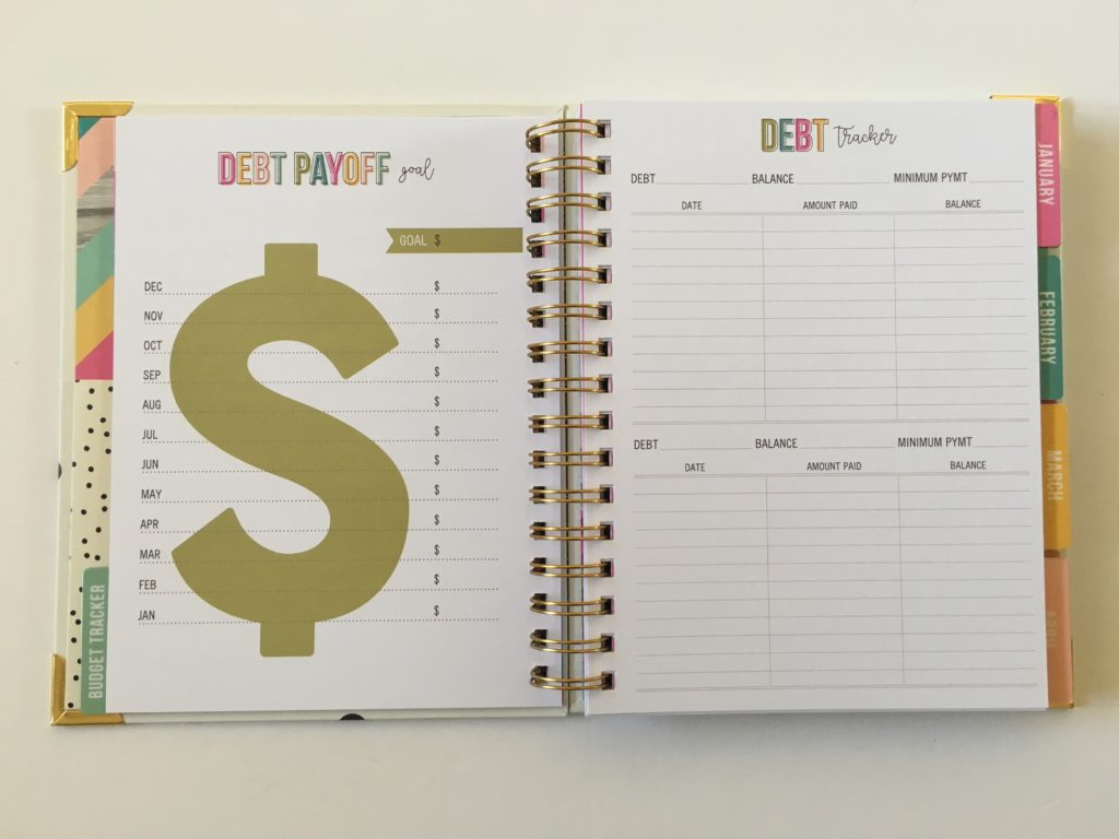 carpe diem budget planner review debt payoff tracker bright white paper hardcover monthly calendar