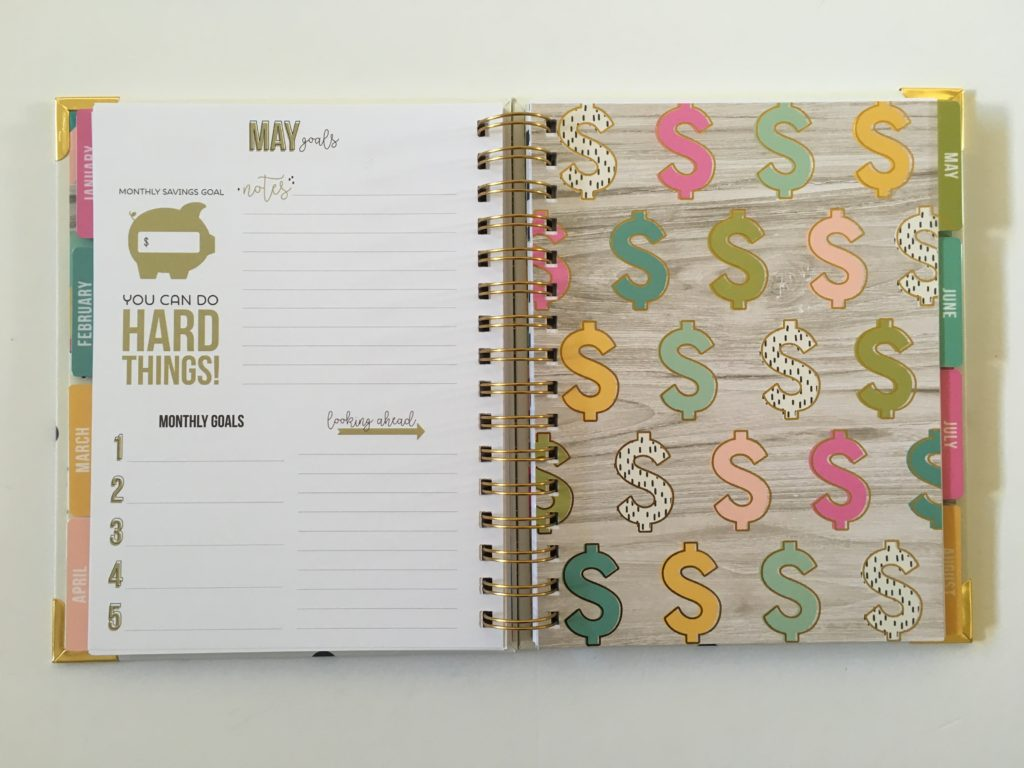 carpe diem budget planner review monthly planning spending debt payoff savings tracker gold foil