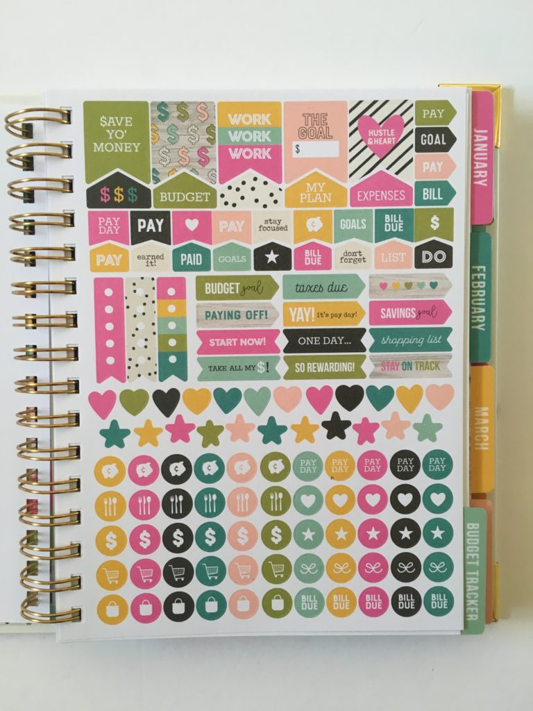carpe diem budget planner review rainbow icon planner stickers
