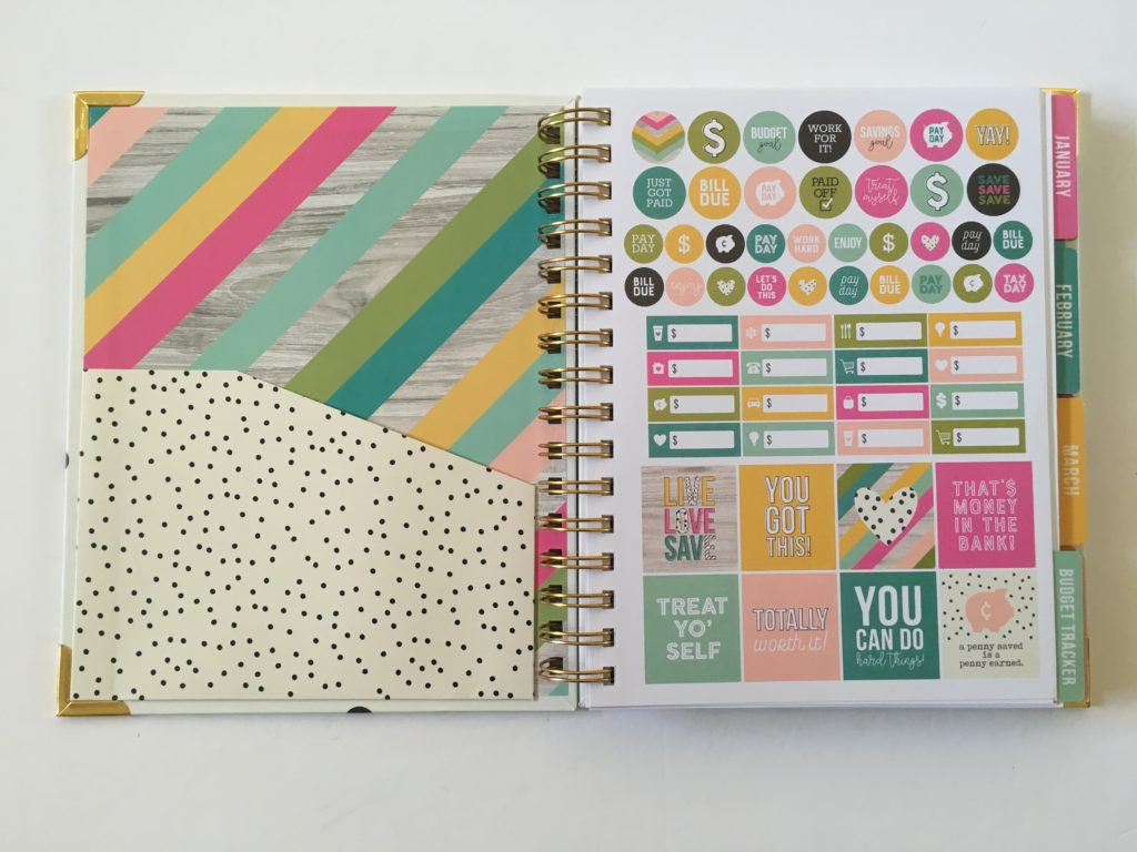 carpe diem budget planner review rainbow planner stickers simple functional affordable