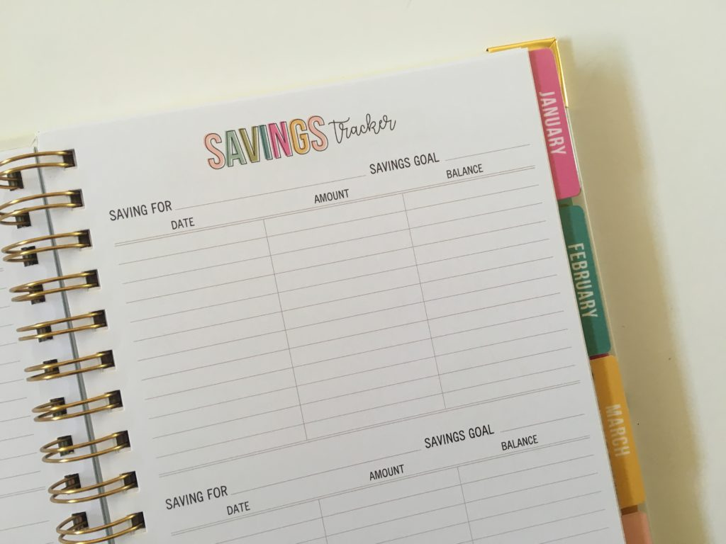 carpe diem budget planner review savings tracker rainbow simple minimalist spread