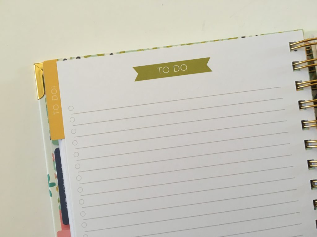 carpe diem checklists to do pages in the home planner