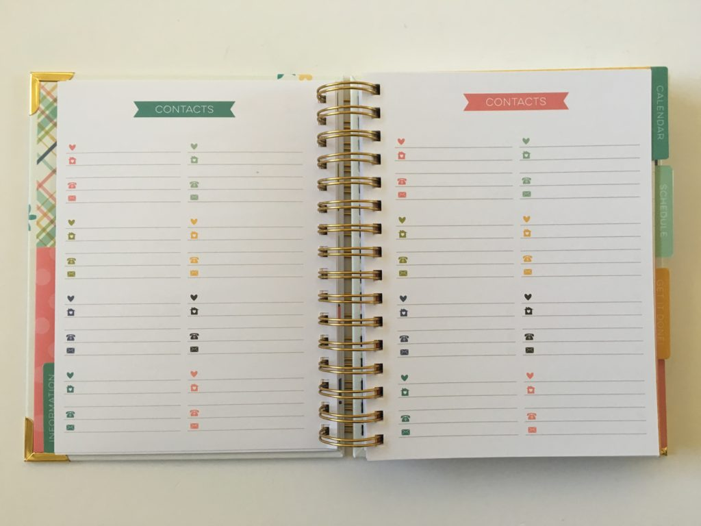carpe diem contacts page weekly planner review