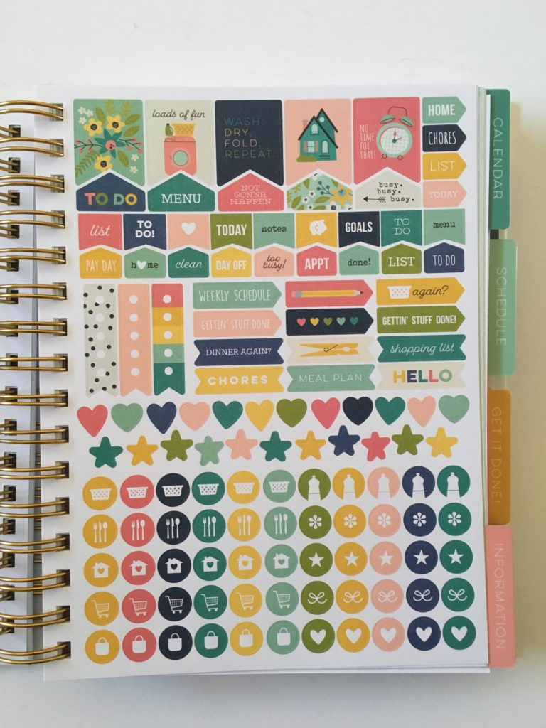 carpe diem home planner review planner sticker sheets functional icon decorative