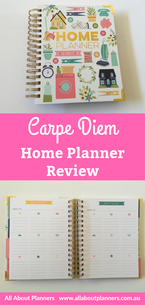 carpe diem home planner review pros and cons video flipthrough simple stories rainbow weekly spread household organizer
