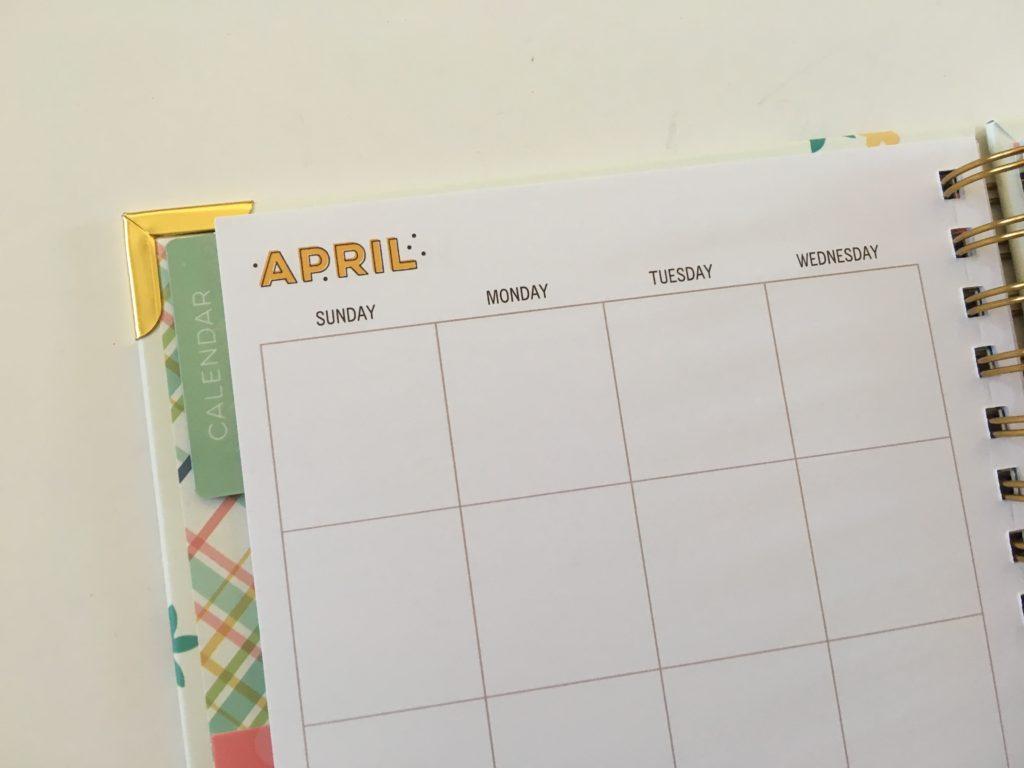 carpe diem monthly calendar in the home planner