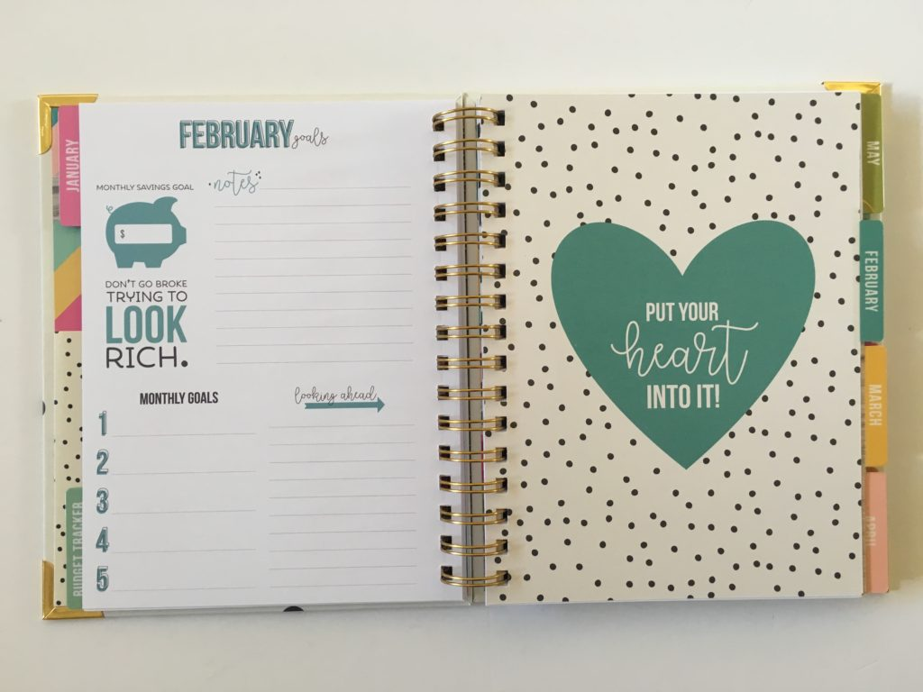carpe diem monthly planner dividers