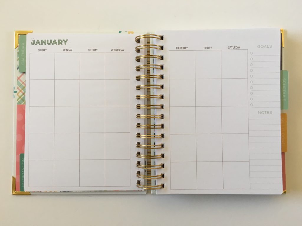 carpe diem planner review monthly calendar sunday start wire bound cheap affordable home planner