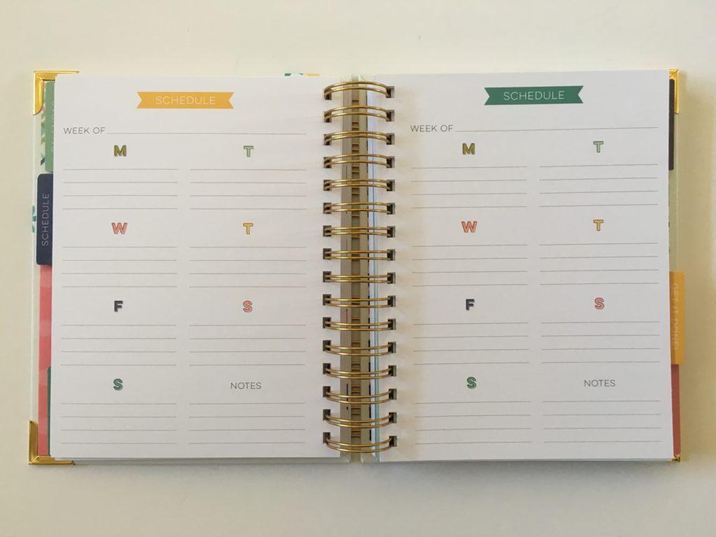 carpe diem weekly spread home planner
