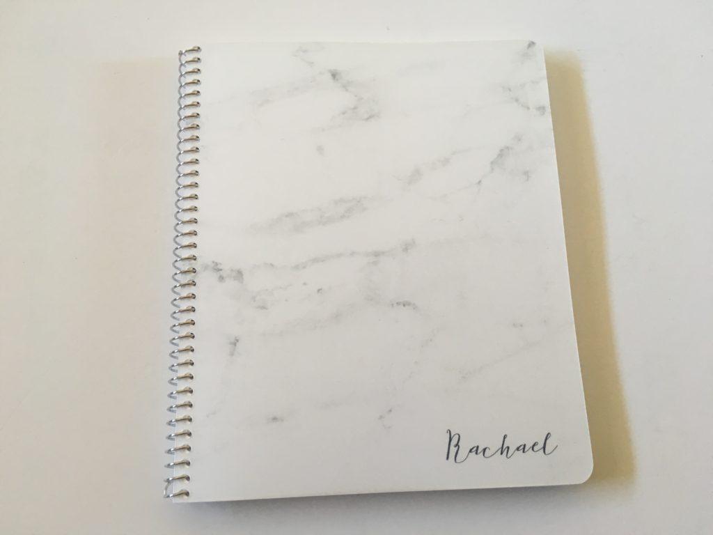 custom weekly planner practical paper co review video pen testing ghosting bleed through horizontal spread and bullet journal