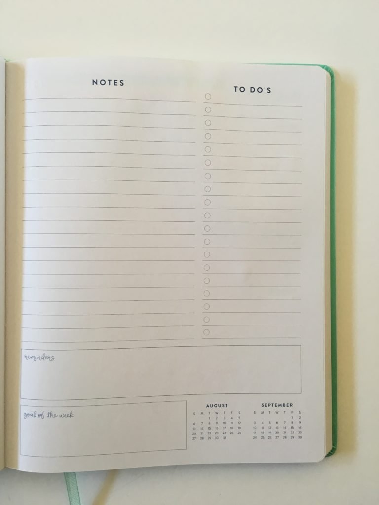 eccolo weekly planner pen testing paper quality no ghosting or bleed through