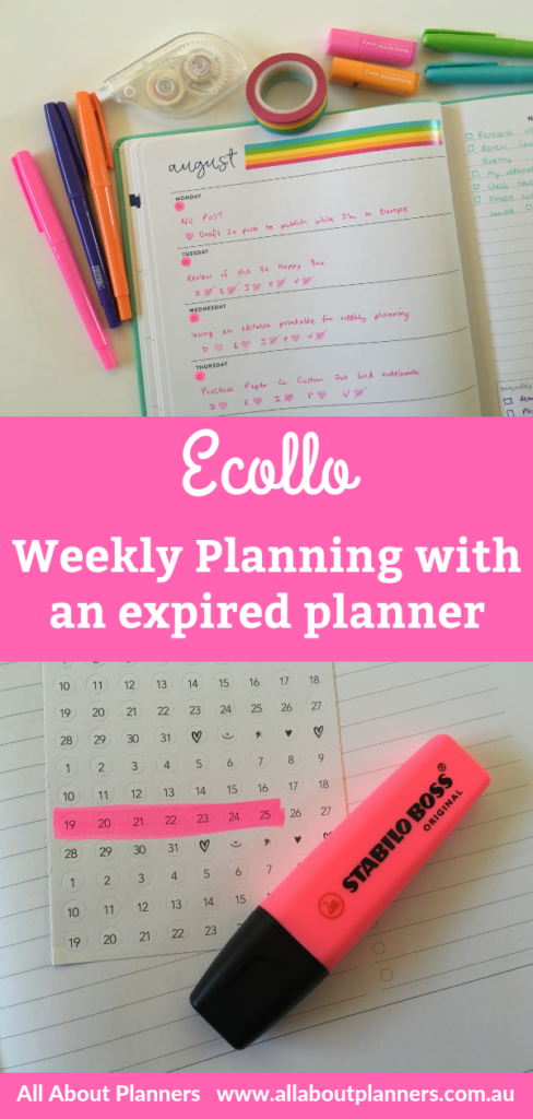 eccolo weekly planner spread colorful using an expired planner hacks tips ideas all about planners