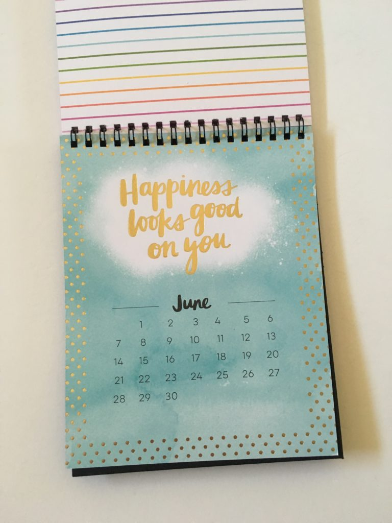happy planner be happy box desk calendar dates at a glance