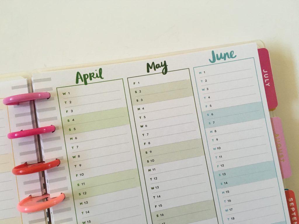 happy planner future log amy tangerine collab planner quarterly planning