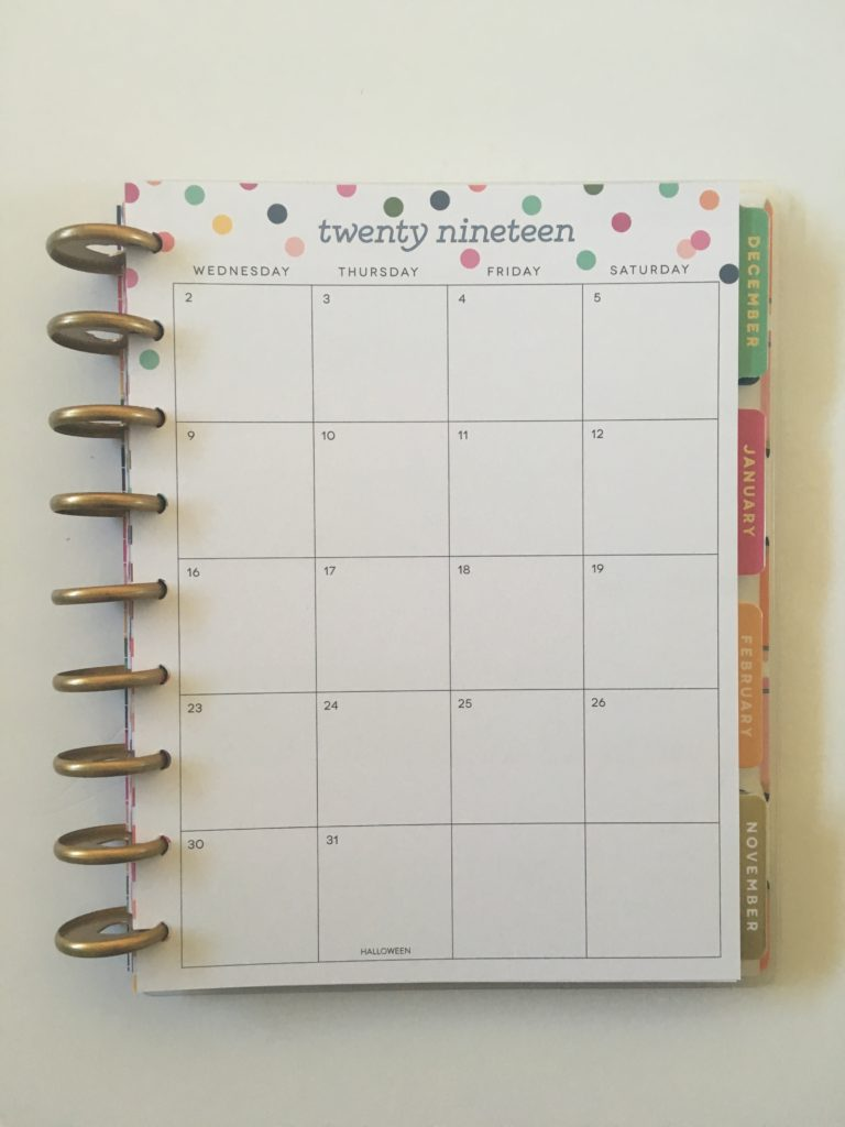happy planner pros and cons video flipthrough 2 page monthly calendar sunday start