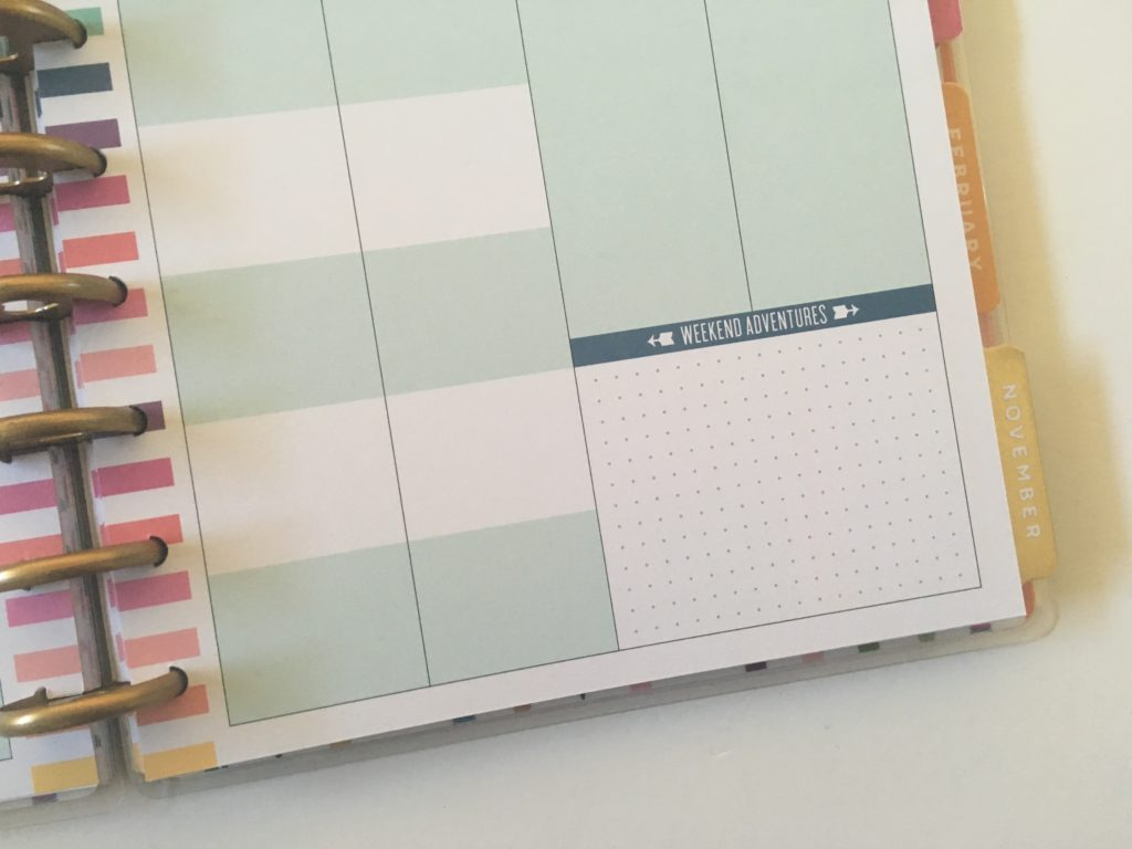 happy planner student edition weekly spread class subjects school college university