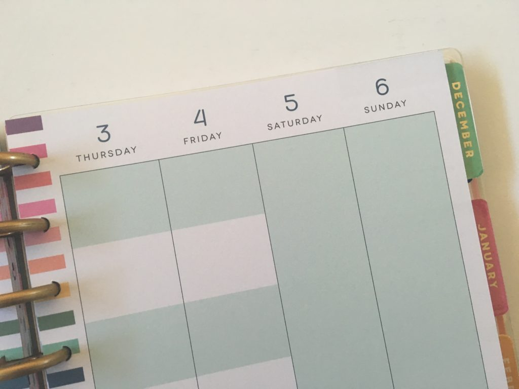 happy planner student edition weekly spread monday start full space for weekends