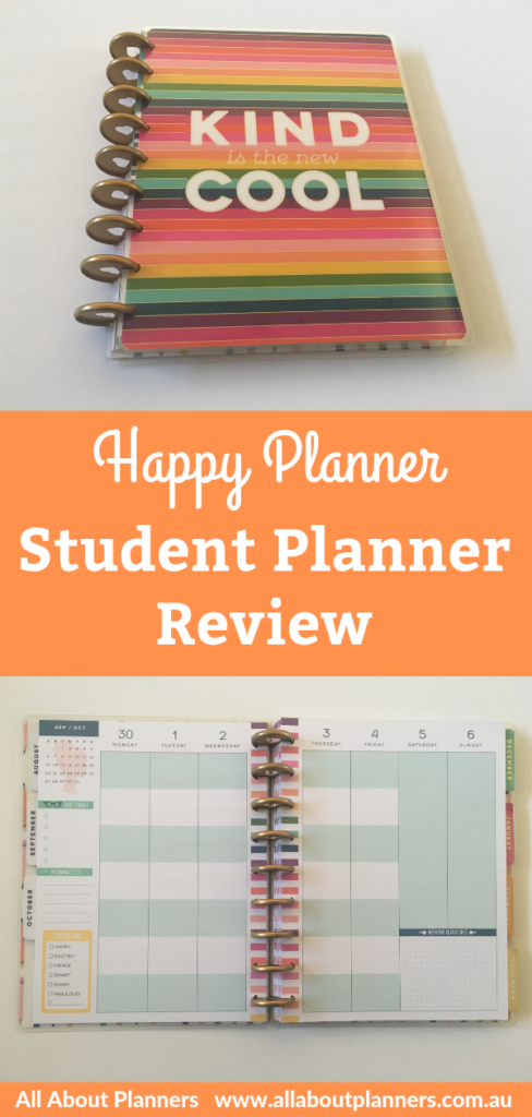 happy planner student planner review weekly spread monday start discbound video flipthrough pen testing