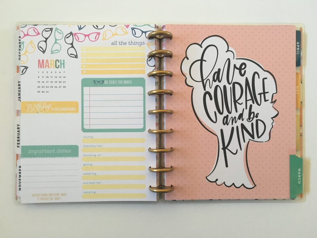 happy planner student version college high school academic year review pros and cons video flipthrough rainbow colorful