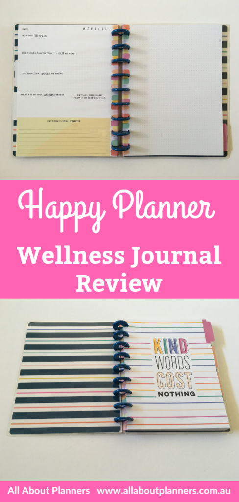 happy planner wellness journal planner review pros and cons video flipthrough dot grid bullet journal bujo discbound happy notes