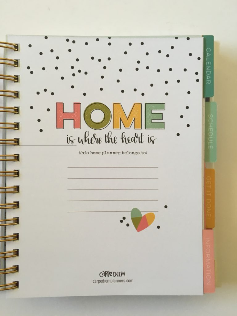 home planner carpe diem
