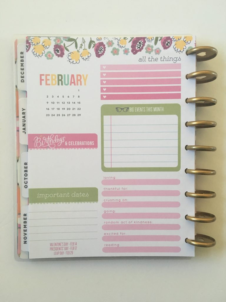 mambi happy planner student edition review colorful monthly planning page